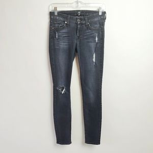 7 for all mankind size 25 black jeans